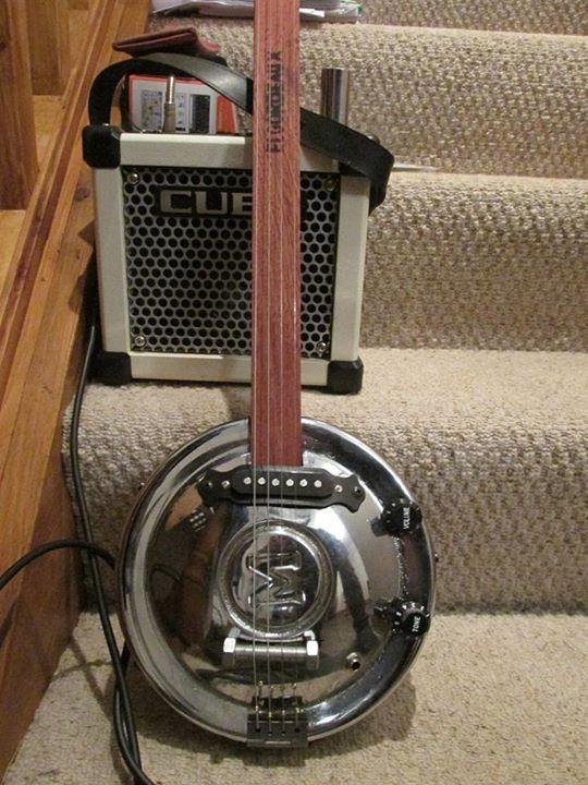Morris Minor Hubcap Guitar - Slide Guitar