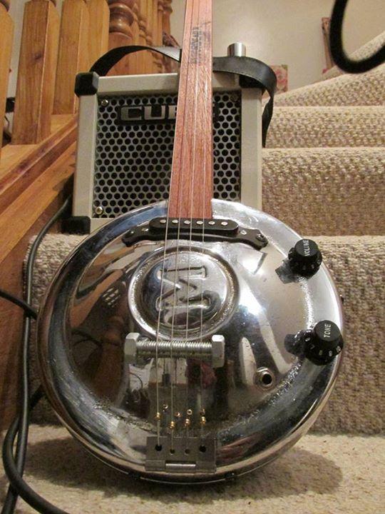 Morris Minor Hubcap Guitar Slide Guitar
